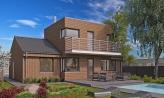 Poschodový moderný dom s plochou a sedlovou strechou