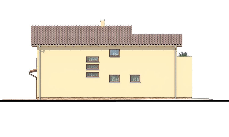 Pohľad 4. - Moderný rodinný dom s garážou a terasou