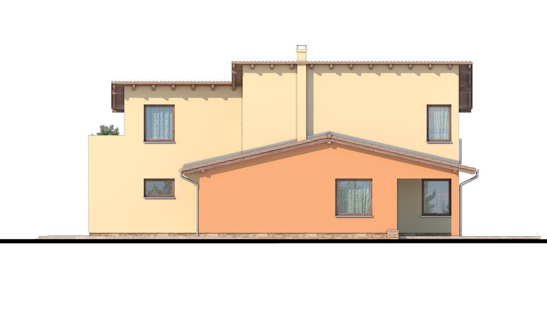 Pohľad 2. - Moderný rodinný dom s garážou a terasou