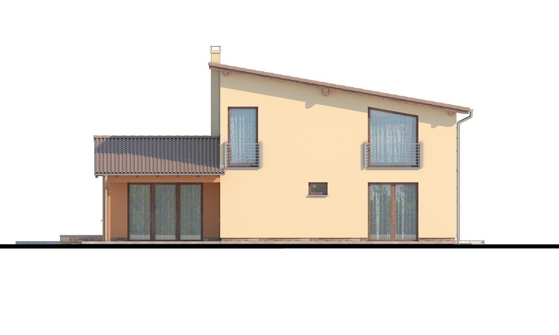 Pohľad 3. - Moderný rodinný dom s garážou a terasou