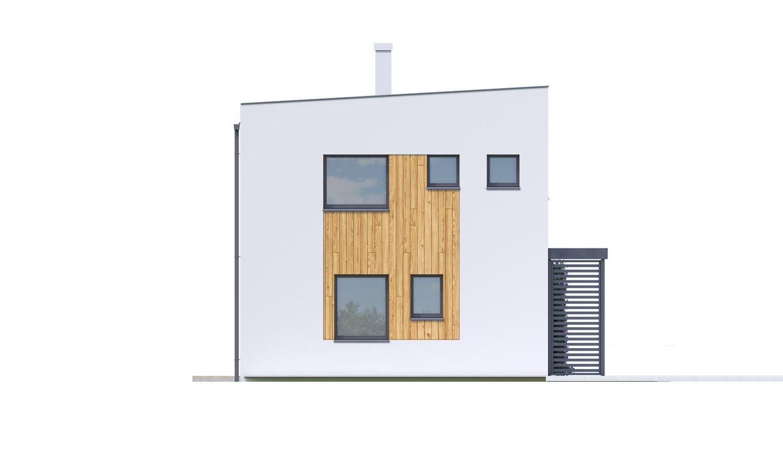 Pohľad 4. - Rodinný dom pre 4-5 člennú rodinu s izbou na prízemí.
