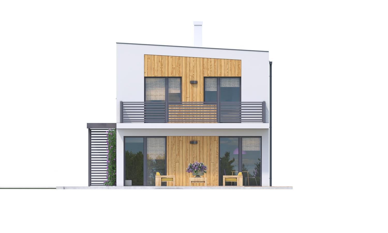 Pohľad 2. - Rodinný dom pre 4-5 člennú rodinu s izbou na prízemí.