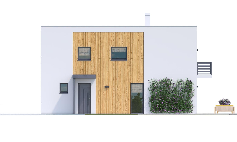 Pohľad 1. - Rodinný dom pre 4-5 člennú rodinu s izbou na prízemí.