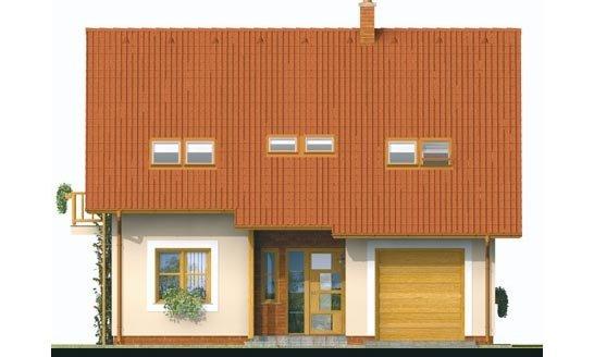 Pohľad 1. - Podkrovný dom s garážou
