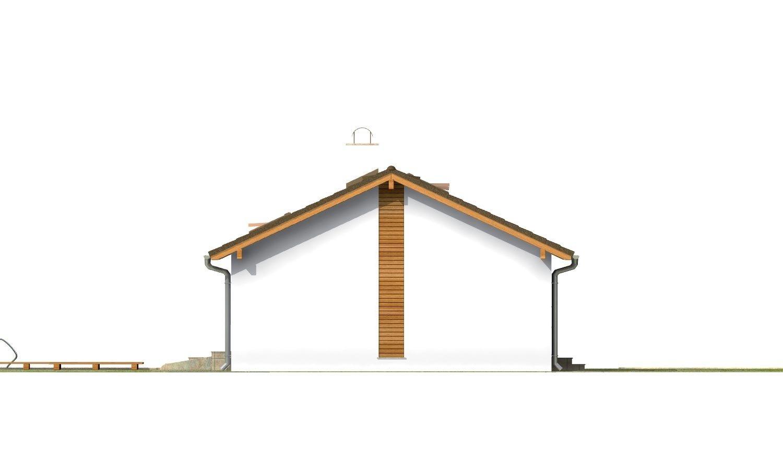 Pohľad 2. - Dom na úzky pozemok s otvorenou strešnou konšrukciou