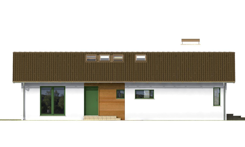 Pohľad 3. - Dom na úzky pozemok s otvorenou strešnou konšrukciou