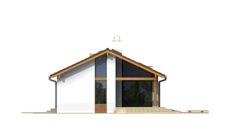 Pohľad 4. - Dom na úzky pozemok s otvorenou strešnou konšrukciou