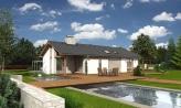 Dom na úzky pozemok s otvorenou strešnou konšrukciou