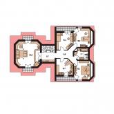 Pôdorys poschodia - VARIANT 55
