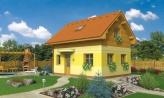 Poschodový dom na úzky pozemok, vhpdný ako chata, alebo záhradný domček
