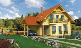 Projekt rodinného domu na úzky pozemok, vhodný ako chata