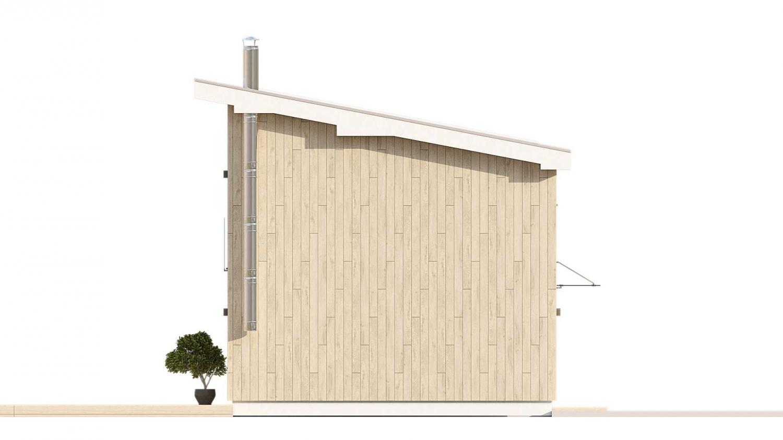 Pohľad 4. - Malý rodinný dom vhodný aj ako rekreačná chata.