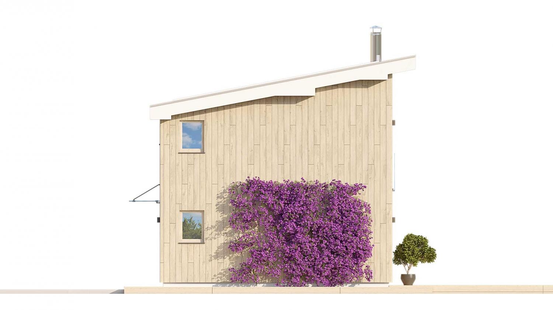 Pohľad 2. - Malý rodinný dom vhodný aj ako rekreačná chata.
