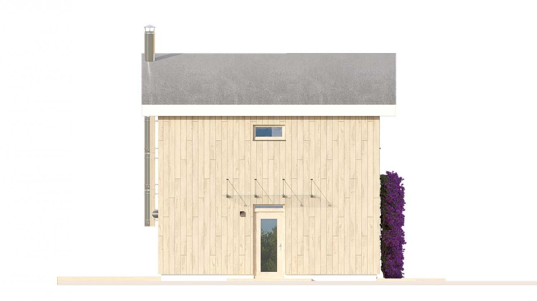 Pohľad 1. - Malý rodinný dom vhodný aj ako rekreačná chata.